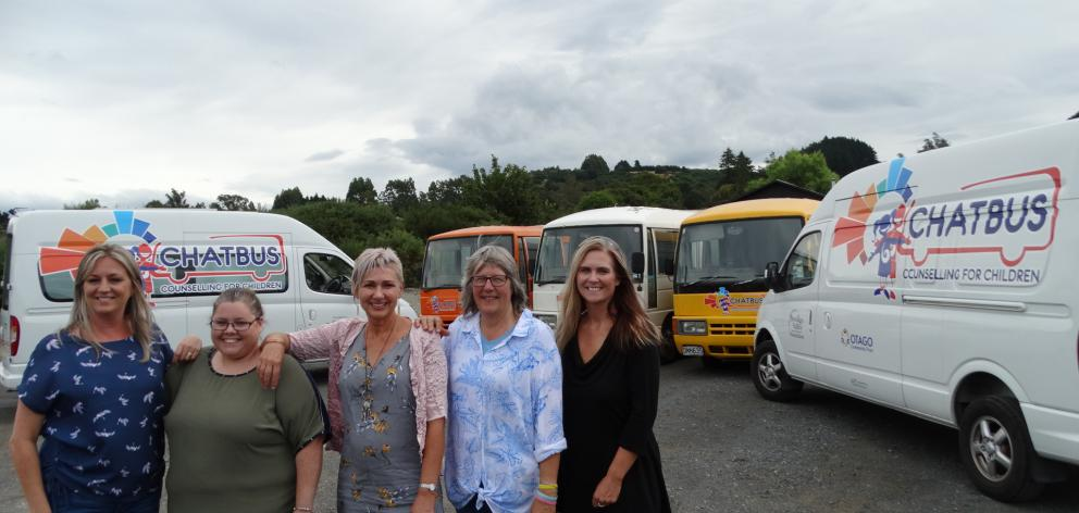 ChatBus counsellors, from left), Carla Hore, Kimberley O'Neill, Jacqui Tangney, chief executive...