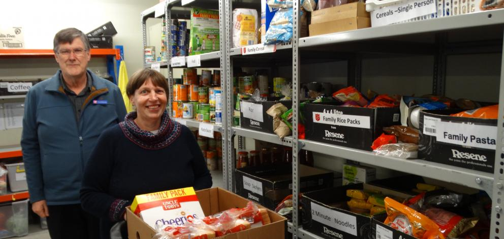 Salvation Army Dunedin Community Ministries manager David McKenzie and foodbank 