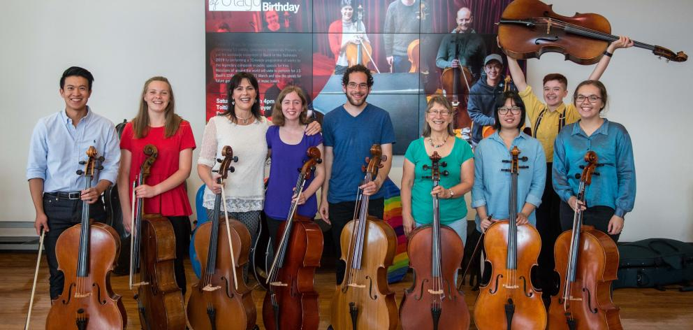 """A """"cello choir'' of 16 Cellists of Otago players will join organists and City Choir Dunedin for..."""