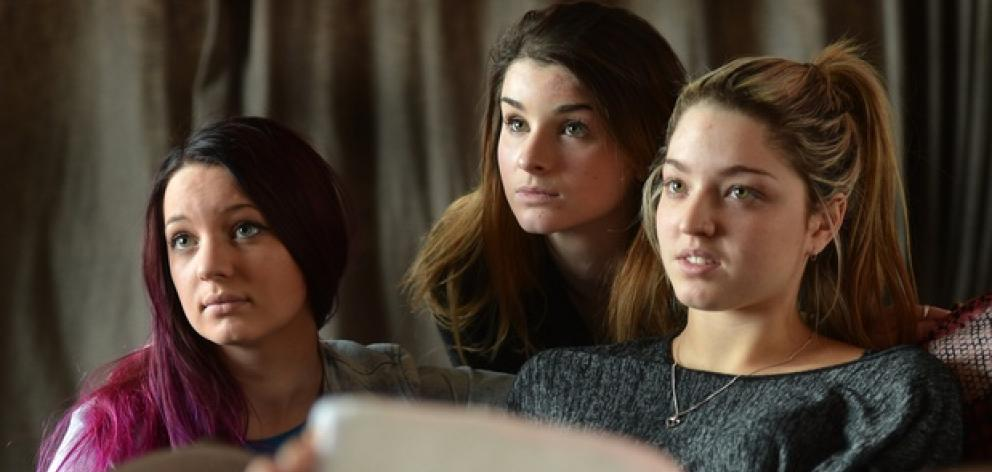 Makayla Spiers, Annalise Cooper and Tae Flavell have been subjected to online abuse. Photo:...