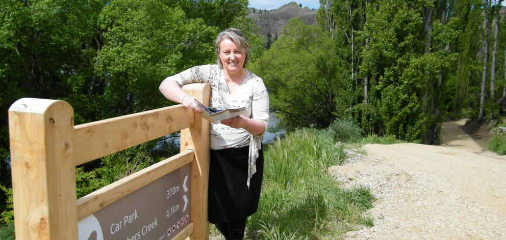 Pictured last summer on the Roxburgh Gorge cycle trail, Anne Pullar says the growing popularity...