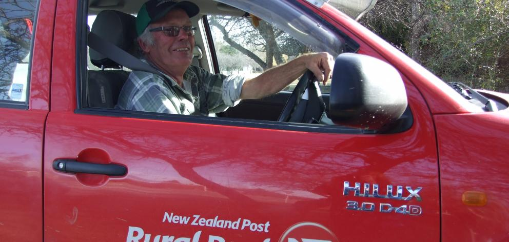 Kevin ''Rock'' McCrorie, of Ranfurly, has retired as rural postie after 17 years. Photo by Lynda...