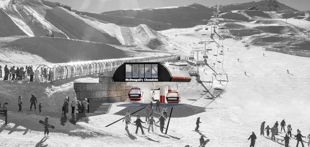 An artist's impression of the new ''chondola'' planned for the Cardrona Alpine Resort between...
