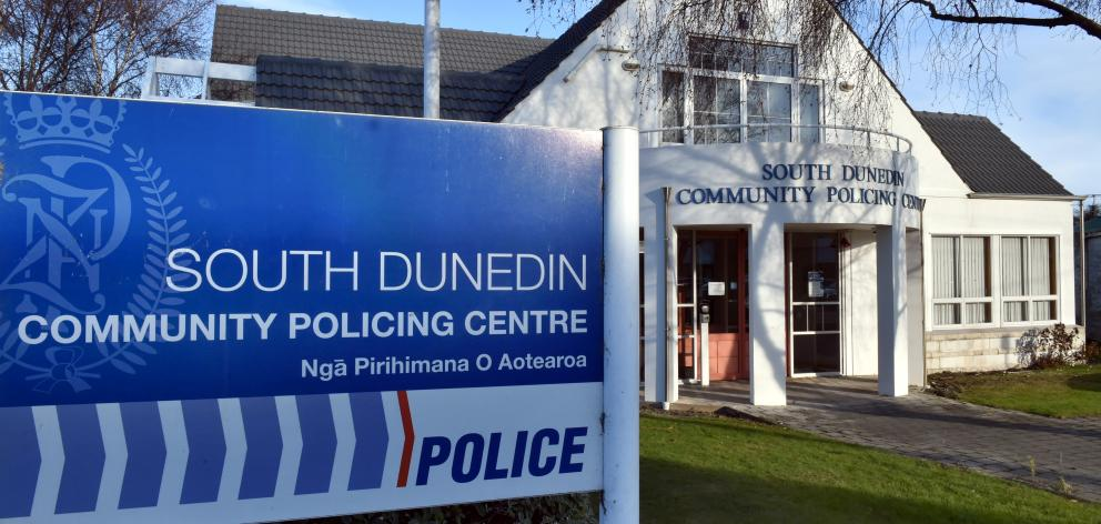 The South Dunedin community policing centre in Macandrew Rd. Photo by Gregor Richardson.