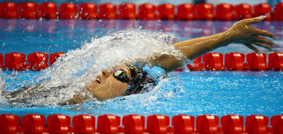 Sophie Pascoe on her way to gold in the 200m individual medley. Reuters.