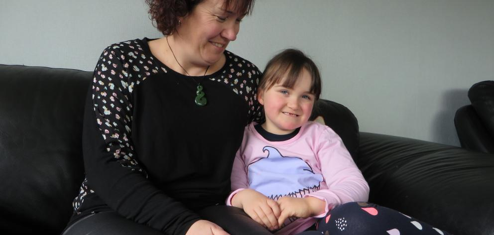 Weston mum Tanya Carlson-McLaren with her 6-year-old daughter Mia at the family home. Photo:...