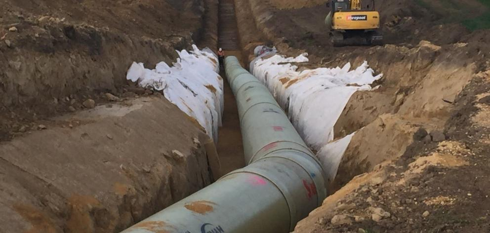 More than 70% of the pipes are in the ground for the North Otago Irrigation Company's $57 million...