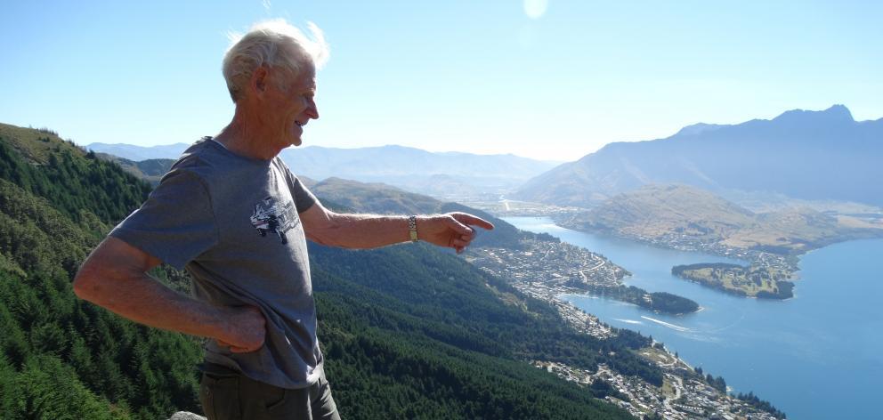 Retiring Wakatipu Wilding Conifer Control Group (WCG) co-chairman Peter Willsman on Ben Lomond...