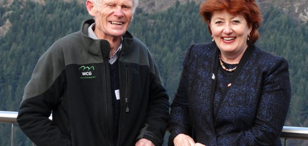 Mr Willsman wielding a chainsaw in 2011. Conservation Minister Maggie Barry with Mr Willsman last...