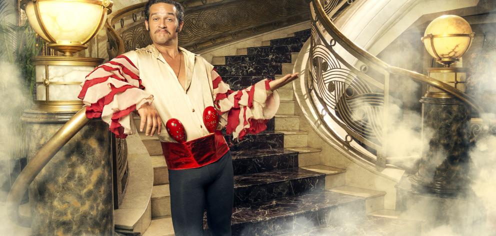 Comedian Barnie Duncan as his alter ego DJ Juan Vesuvius at a hotel foyer in China on a recent...