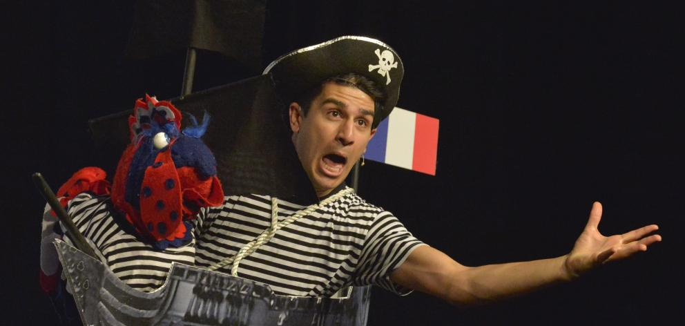 Actor Zak Enayat performs in the children's pantomime Commander Claire and the Pirates of...