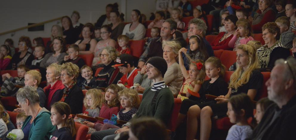 Young and old watch the free Arts Festival Dunedin pantomime Commander Claire and the Pirates of...
