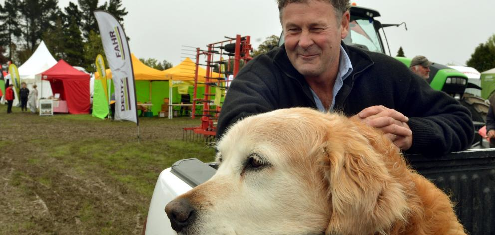 Major rests in the back of Russell Burgess' ute at the East Otago Field Days. Photo: Stephen...
