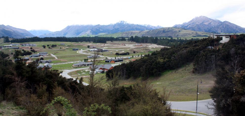 The view from the top of Hidden Hills Dr, on Mt Iron in Wanaka. Landowner Allenby Farms Ltd has...
