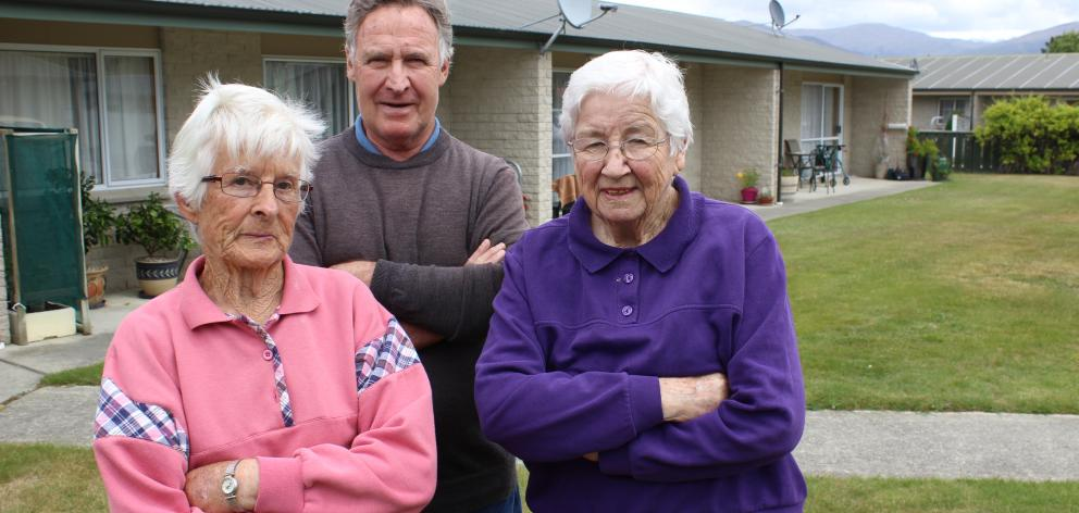 Cromwell pensioners Kath Gibson (86, left), Leo Reyntjes (68)  and Ivy Smith (91)  say they have...