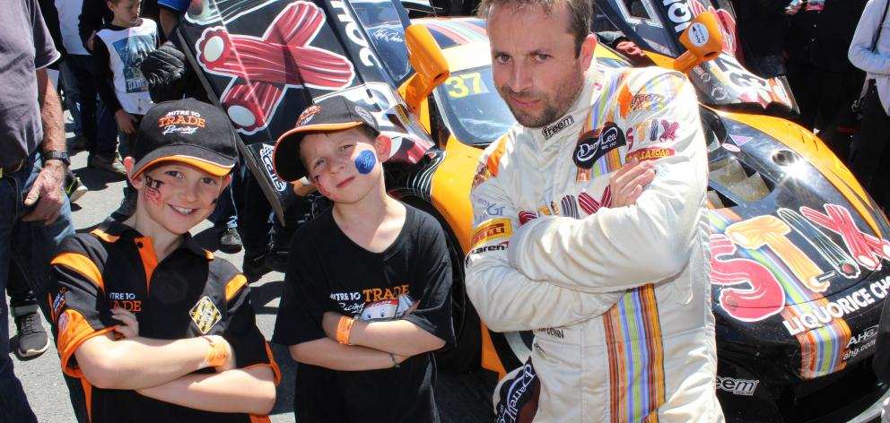 Wanaka boys James (left) and Marshall  Watson bust their ''cool racer'' pose with Australian GT...