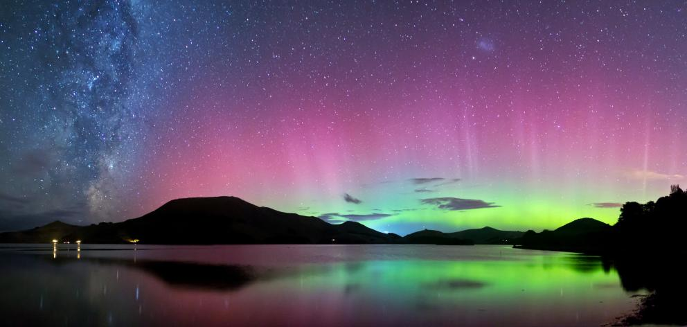 The Aurora Australis visible from Dunedin. The right street lighting is vital to make the city...
