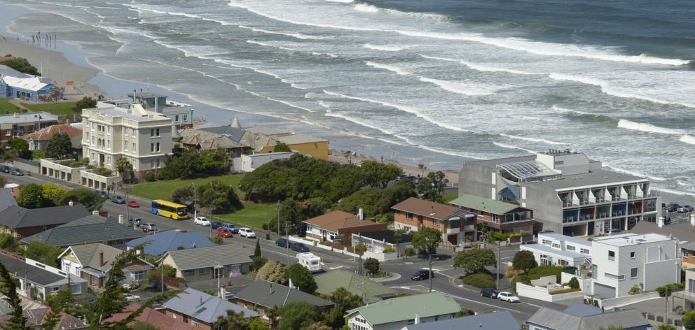 Rating values of properties in the block by St Clair Beach have taken a tumble. PHOTO: GERARD O...