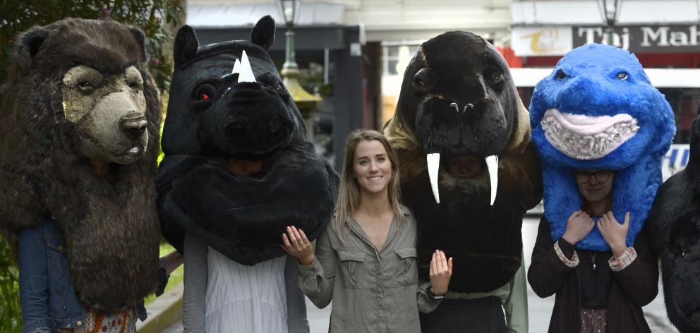 Otago Polytechnic  School of Art third-year student Stephanie Cossens  shows off the collection...