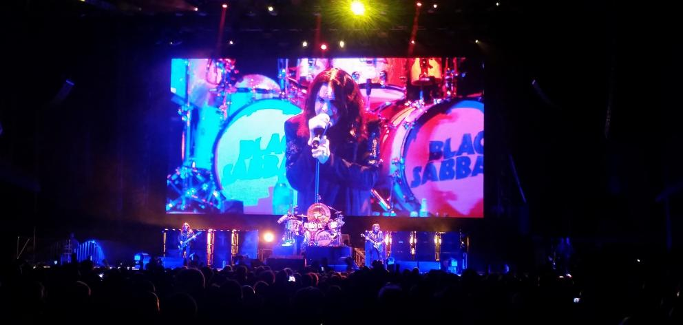 Black Sabbath playing at Forsyth Barr Stadium in April. Photo supplied.