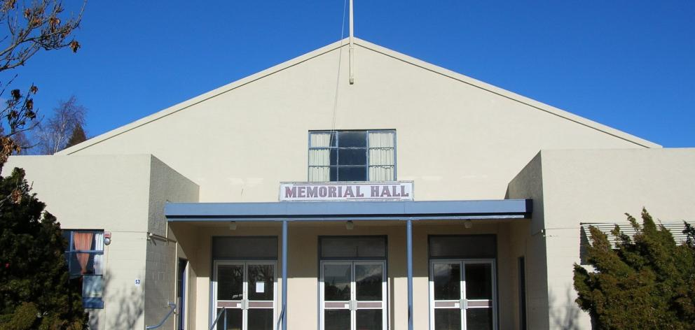 Plans to refurbish Cromwell's Memorial Hall are at a standstill. Photo: ODT.