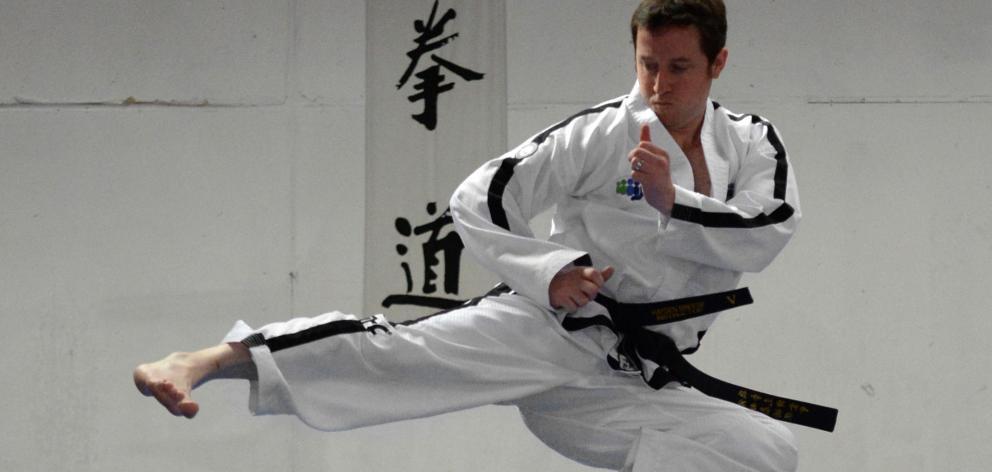 Taekwondo sixth dan black belt Hayden Breese at the Threshold taekwondo training rooms in Dunedin...