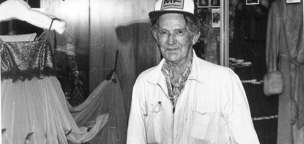 Naseby farmer Eden Hore, who amassed a 1970s fashion collection, pictured in 1990. He died in...