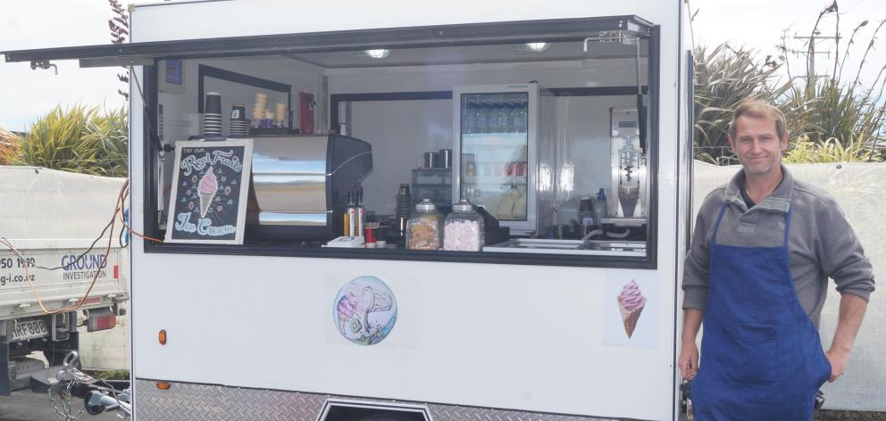 Keep It Real NZ trailer cafe owner Brendan Lemm has established the first pop-up cafe at Tunnel...