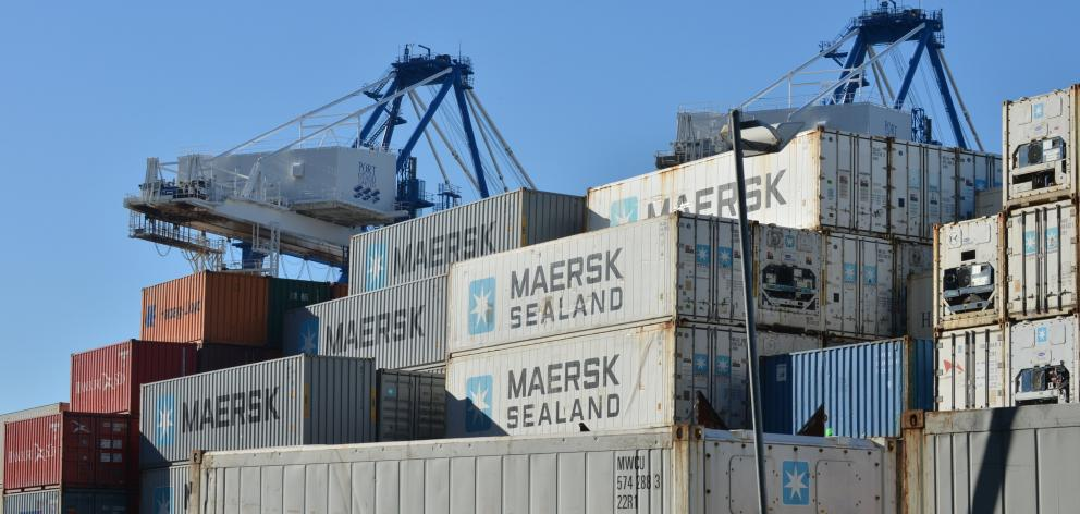 Train hits 2-tonne container blown on to track | Otago Daily