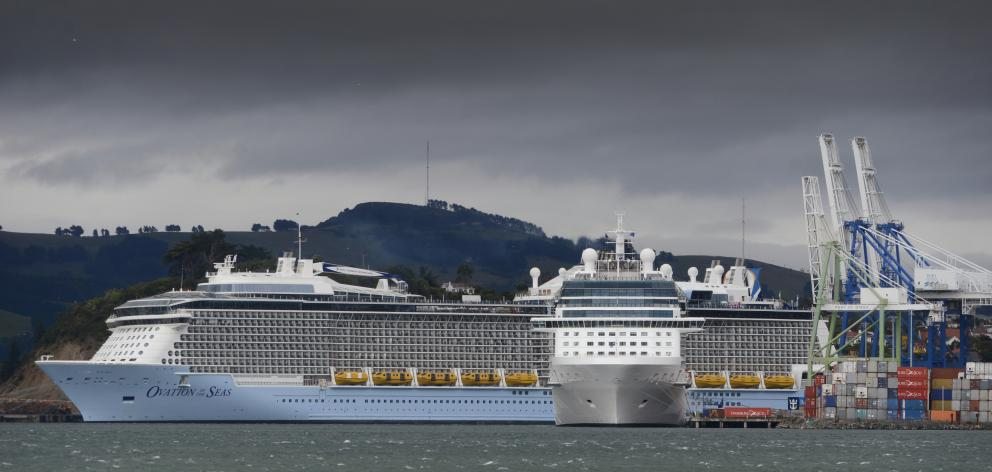 Wind Makes Keeping Cruise Ships In Line Tricky Otago