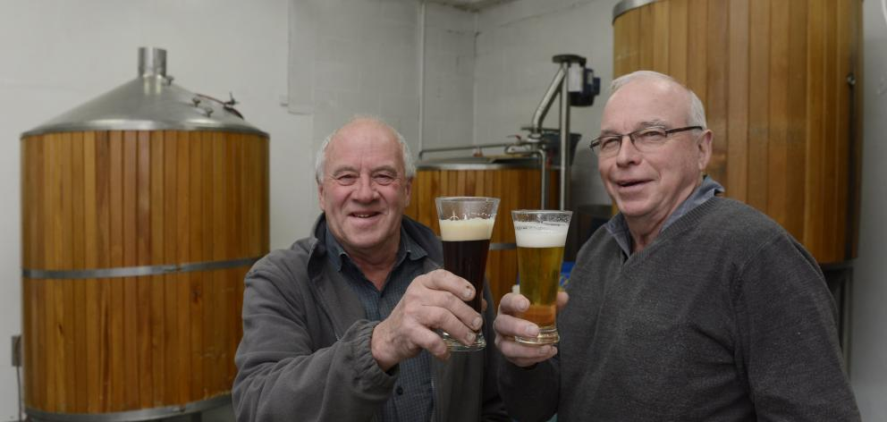 Dunedin's loss is Central Otago's gain. McDuffs Brewery owners Graham Jenkins (left) and Gavin...