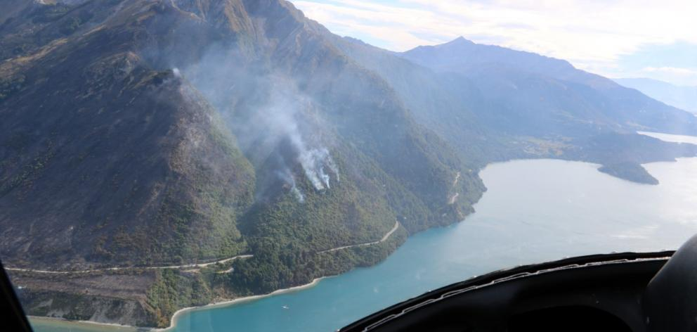 An aerial view of the blaze. Photo Jimmy Sygrove