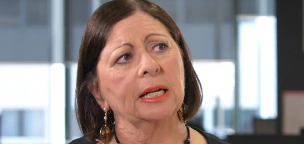 Sir Peter's media spokeswoman, Michelle Boag, told Māori Television that Ms Bridger came forward because she wanted to be famous. Photo: NZ Herald screengrab