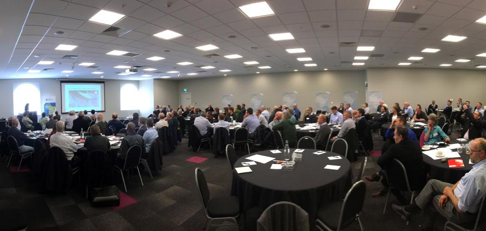 Representatives of 50 organisations from throughout Otago discuss how to cope with a massive...