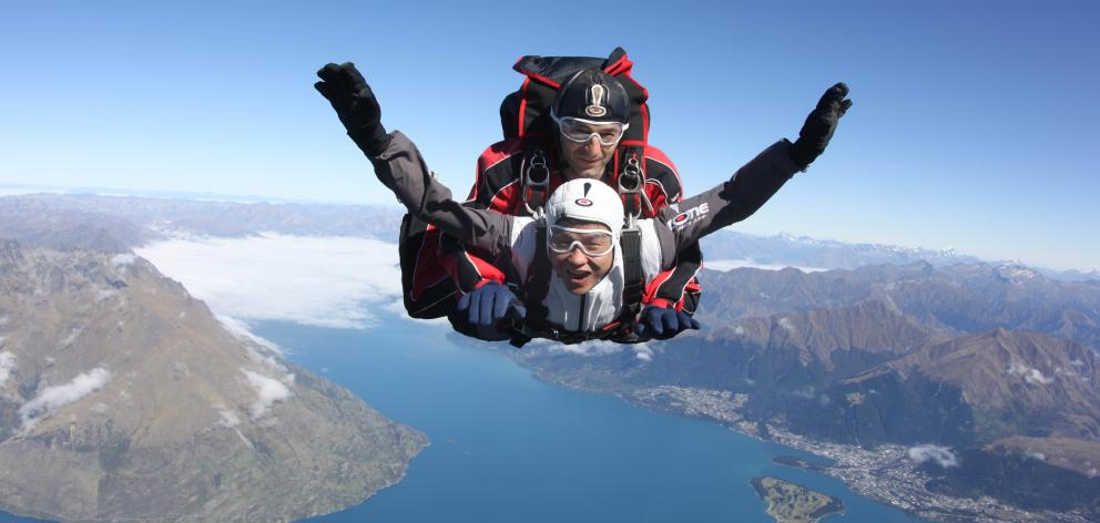 NZONE Skydive head skydiver and operations manager Sasa Jojic (top), of Queenstown, pictured with...