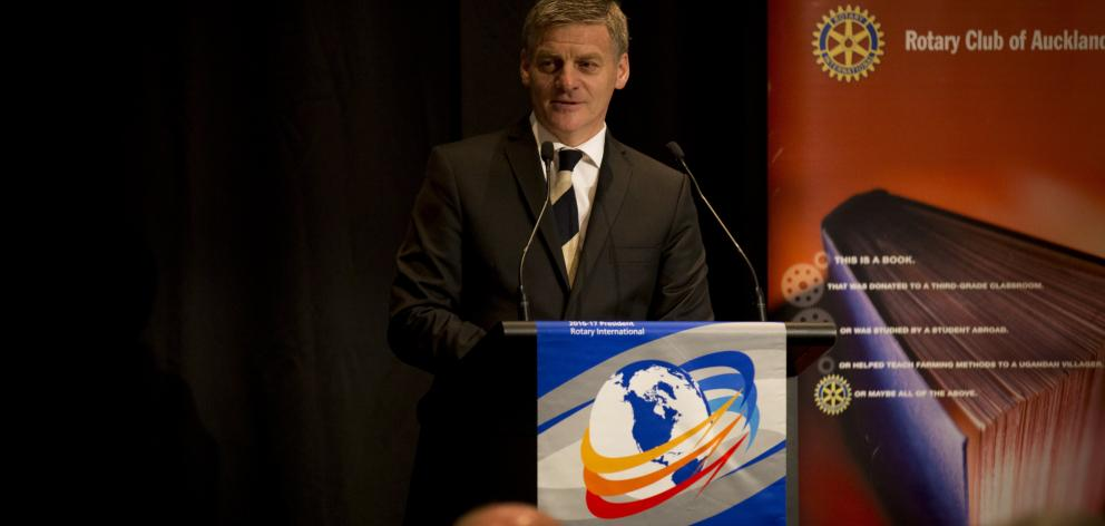 Prime Minister  Bill English during his State of the Nation speech in Auckland yesterday. Photo:...