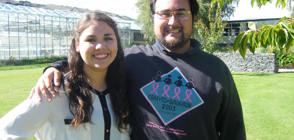 Andrea Moreno Madariaga and Luis Fernandez, of Chile, are looking forward to their studies at ...