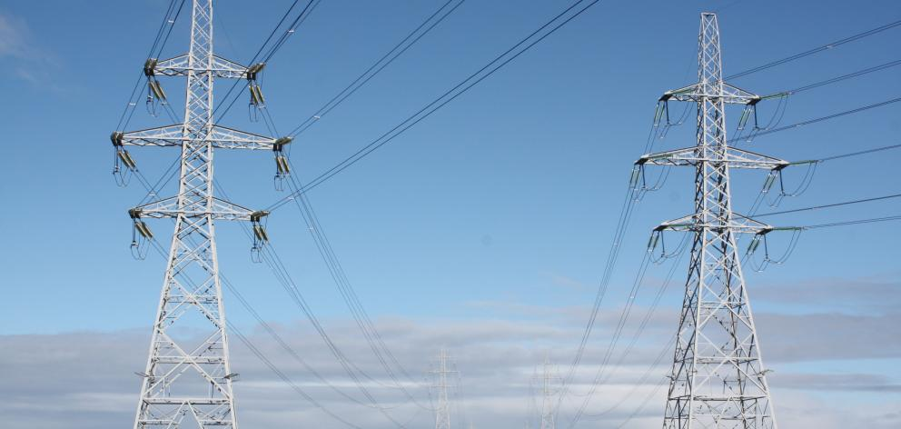 Debate is continuing on the future of electricity transmission costs. Photo: ODT.