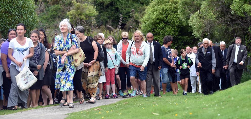 The 2017 Waitangi Day celebrations hosted by Te Runanga o Otakou at the Otakou Marae on Monday. Photo: Peter McIntosh