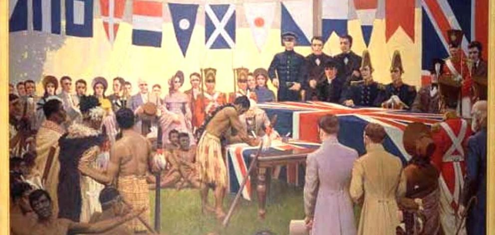 Marcus King's Signing of the Treaty of Waitangi was painted nearly 100 years after the 1840...