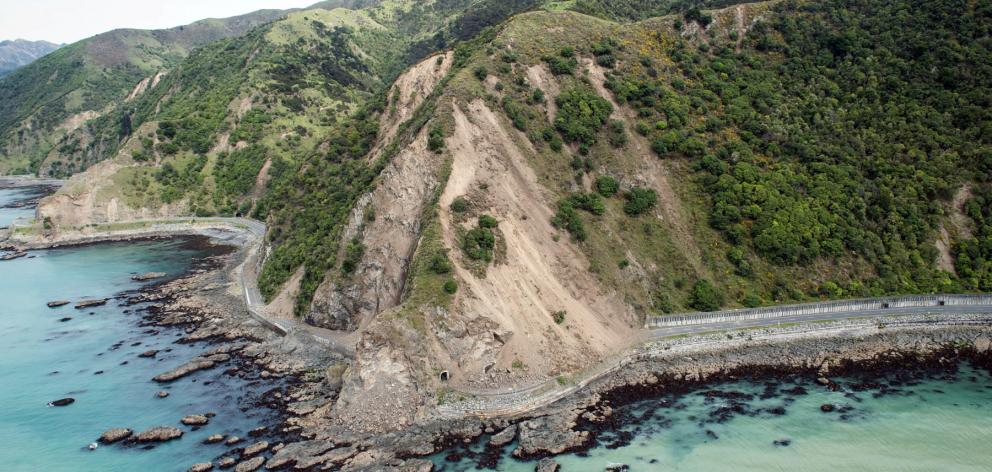 Around 350,000 - 400,000 cubic metres of earth came down on a 40km stretch of road between...