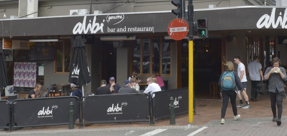 Alibi bar and restaurant in the Octagon  is due to close next month. Photo: Gerard O'Brien
