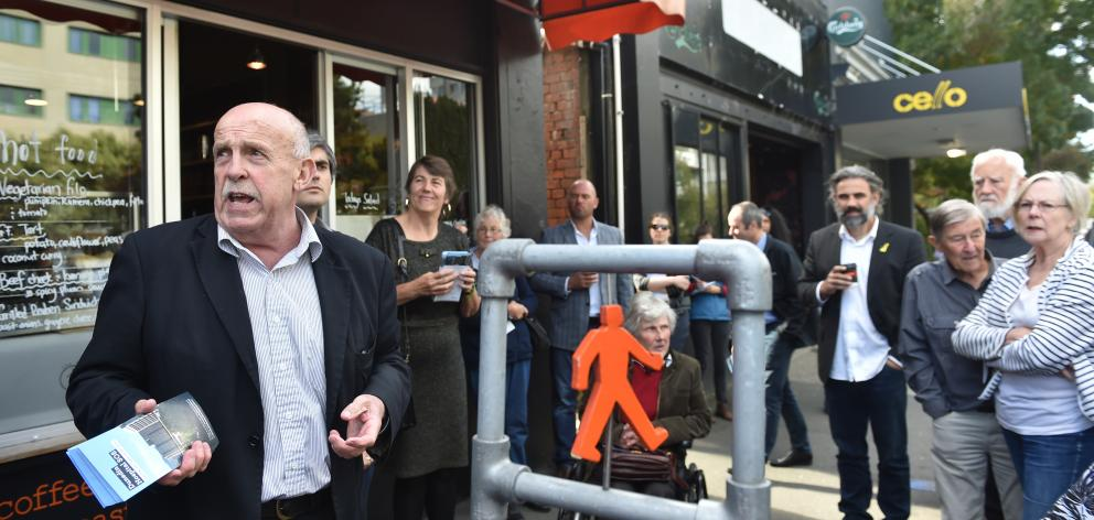 Cr David Benson-Pope at the launch of the Dunedin City Council's hospital rebuild campaign. Photo...