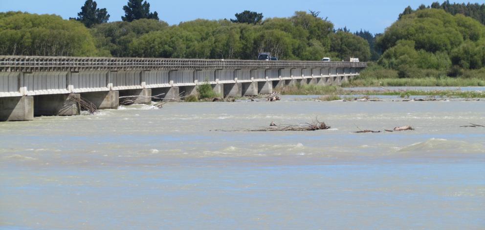 The Waitaki Bridge north of Oamaru. Photo ODT.