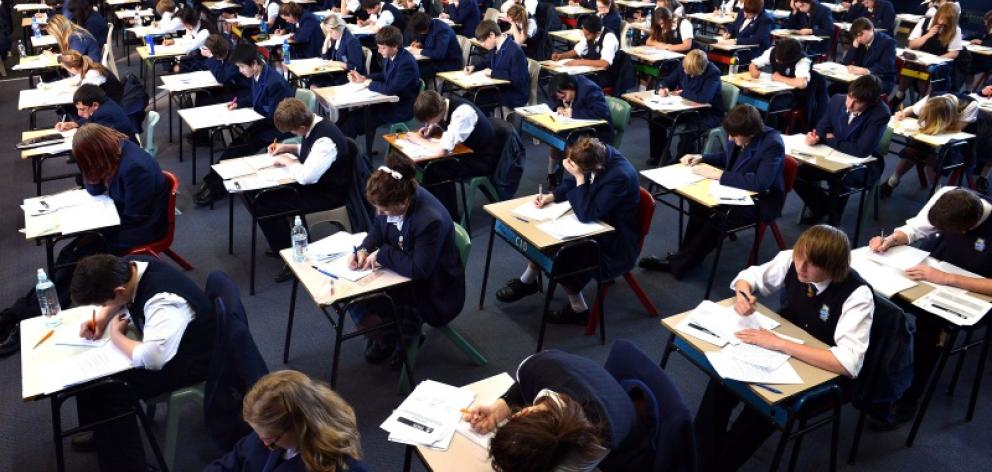 NCEA examinations start tomorrow. Photo: Peter McIntosh.