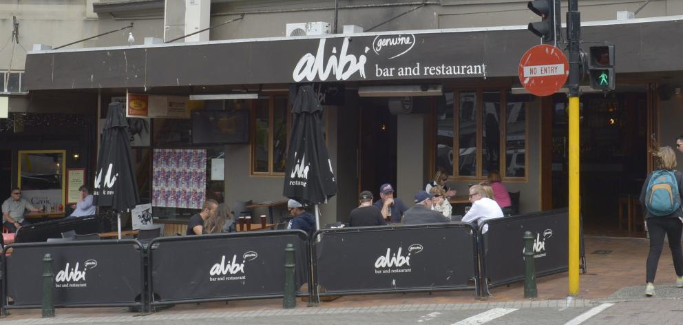 Alibi Bar and Restaurant in the Octagon. Photo by Gerard O'Brien.