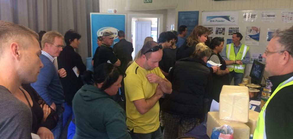 Crowds of people attended a recruitment day at Fonterra's Clandeboye site in South Canterbury....