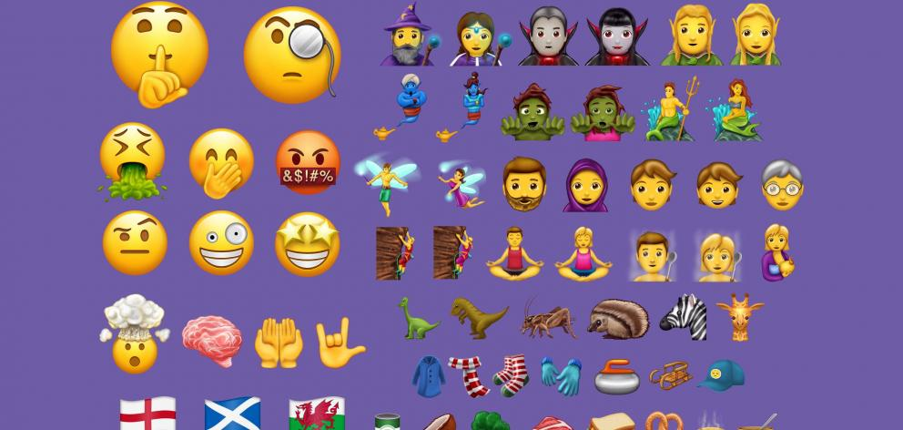 The new emoji for 2017 have been released. IMAGE: EMOJIPEDIA