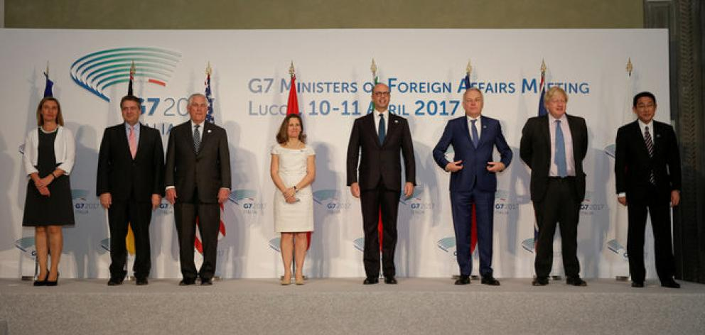 G7 foreign ministers sat down to discuss the six-year-old civil war in Syria. Photo: Reuters