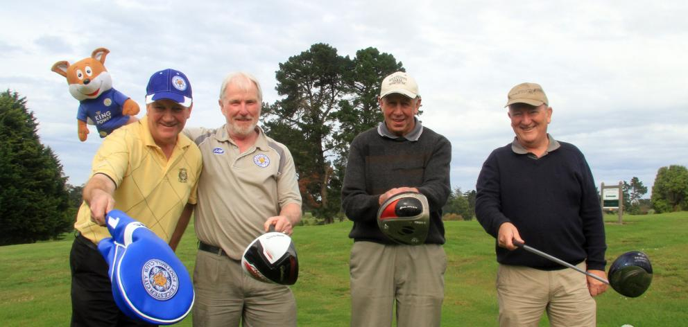(from left) Tim Hutchinson, Marty Davey, Graeme McIntyre, and Harry Jones, all of Oamaru. Photo by Hamish MacLean.